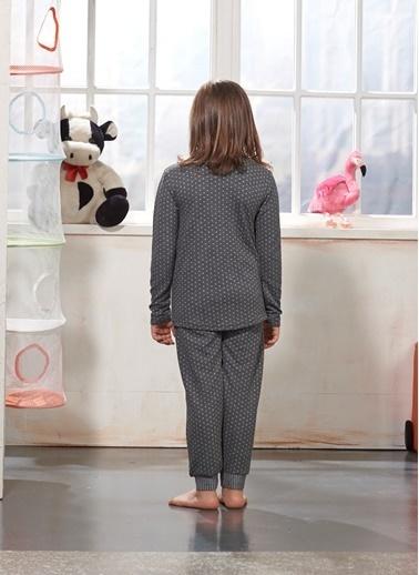 Zeyzey Nakışlı Kız Çocuk Pijama Takım Yeşil